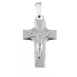 Krzyżyk srebrny z wizerunkiem Jezusa MO052