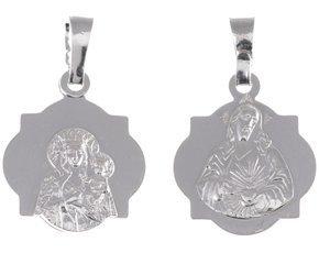 M39 Medalik srebrny - Matka Boska Częstochowska