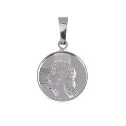 M79 Medalik srebrny - Jezus w koronie cierniowej