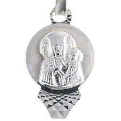 Medalik srebrny diamentowy - Matka Boska Częstochowska MD11