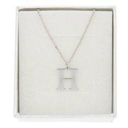 Naszyjnik celebrytka literka H 1,0 cm srebro rodowane pr 925 CELH1CM