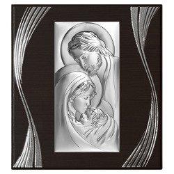 Obrazek Srebrny Święta Rodzina drewniana ramka 6380F
