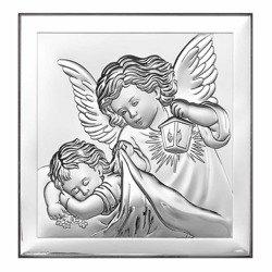 Obrazek srebrny Aniołek z latarenką 6387
