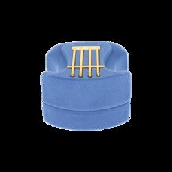 Pudełko flokowe harfa błękitne  P6/BŁĘKIT