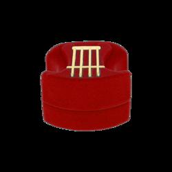 Pudełko flokowe harfa czerwone P6/CZERW