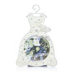 Ramka dziecięca z masy perłowej - beżowa, sukienka 473-3214