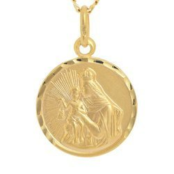 Złoty medalik pr. 585 M.B. Szkaplerzna Szkaplerz średni okrągły  ZM014
