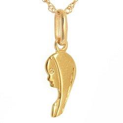Złoty medalik pr. 585 Madonna lewy profil  ZM060