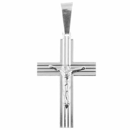 Krzyżyk srebrny z wizerunkiem Jezusa M129