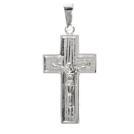 Krzyżyk srebrny z wizerunkiem Jezusa  MO086