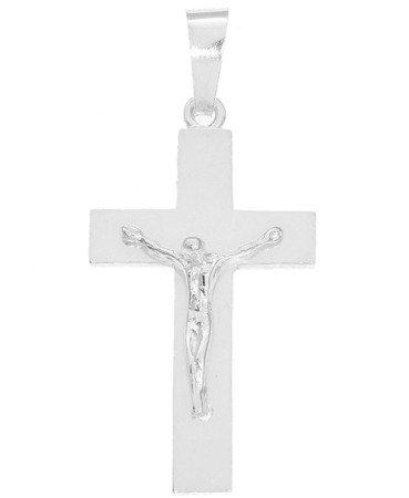 Krzyżyk srebrny z wizerunkiem Jezusa MO142