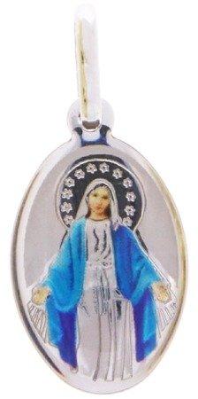Medalik srebrny (1,1 g) - Matka Boża Niepokalana Cudowny medalik MK002