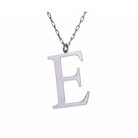 Naszyjnik celebrytka literka E 3,0 cm srebro rodowane pr 925 CELE3CM