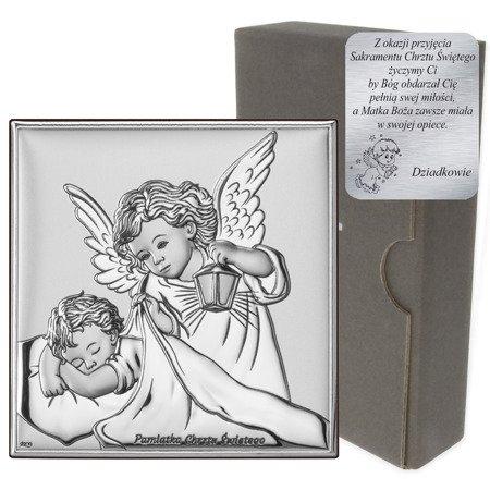 Obrazek srebrny Aniołek Twój Anioł Stróż DS14