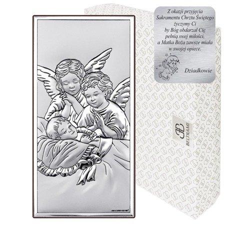 Obrazek srebrny Aniołki 6468