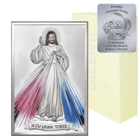 Obrazek srebrny Jezus Miłosierny 80001COL