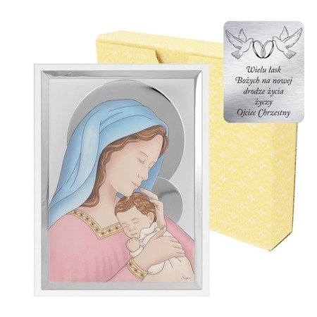 Obrazek srebrny Matka Boska z dzieciątkiem 31128CER