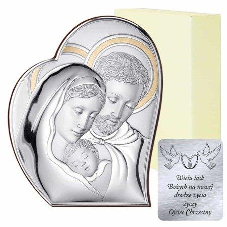 Obrazek srebrny Święta Rodzina 81050 ORO