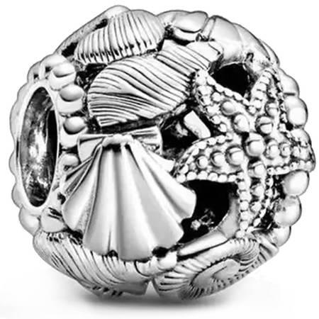 Srebrna przywieszka pr 925 Charms morski - muszle rozgwiazdy PAN028