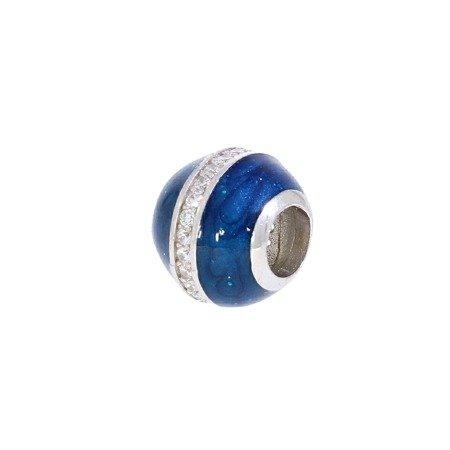 Srebrna przywieszka pr 925 Charms steelblue cyrkonie PAN050