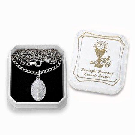 Zestaw srebrny pr. 925 medalik Matka Boża Niepokalana Cudowny medalik łańcuszek pudełko ML002/L60GRF6L/P22