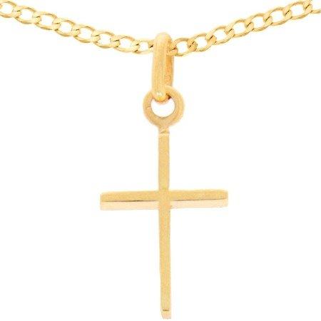 Zestaw złoty pr. 585 krzyżyk z łańcuszkiem ZK026/ZL013-55