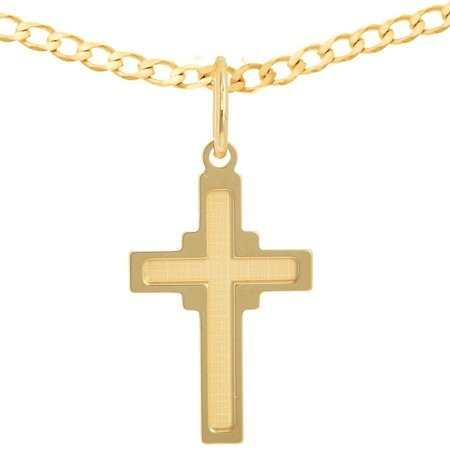 Zestaw złoty pr. 585 krzyżyk z łańcuszkiem ZK044/ZL016-55