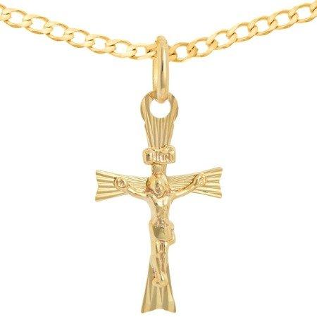 Zestaw złoty pr. 585 krzyżyk z łańcuszkiem ZK047/ZL016-55