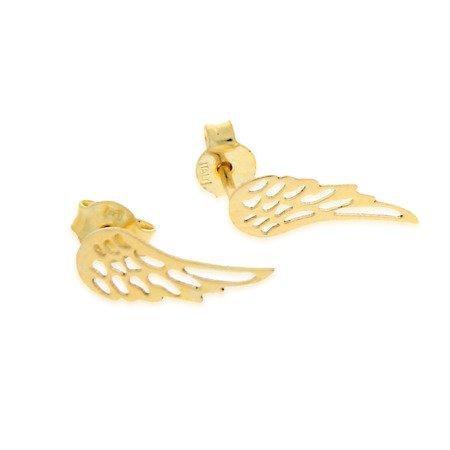 Złote kolczyki pr. 585  skrzydła anioła sztyft ZA015/PDH-3/NA/A1/G