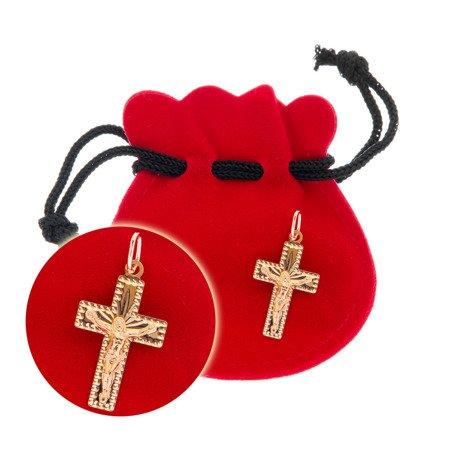 Złoty krzyżyk pr. 585 Krzyżyk z Jezusem ZK048