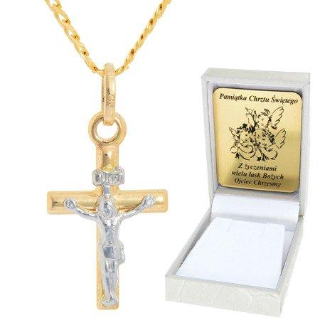 Złoty łańcuszek z krzyżykiem pr. 585 ZK046/ZL013-45/PZH-3/A1/GZ