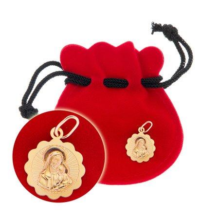 Złoty medalik pr. 585 Madonna z dzieciątkiem  ZM095